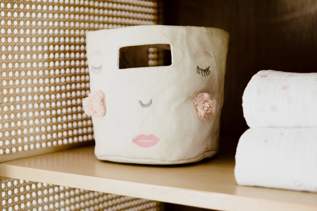 Peek-A-Boo Pink Mini Storage | Pehr - Just Add Milk