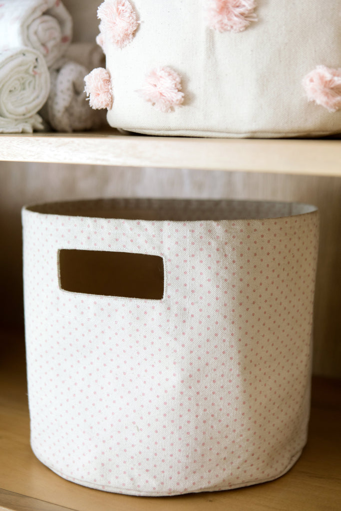 Pink Pin Dot Mini Storage | Pehr - Just Add Milk