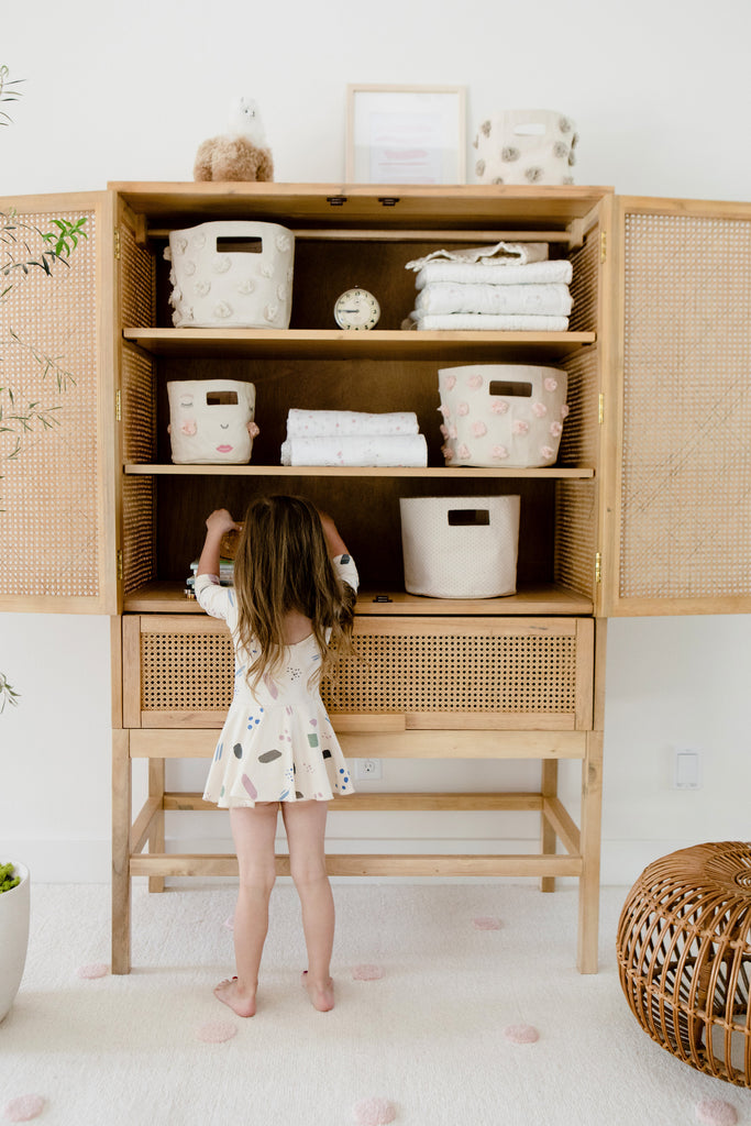 Blue Pin Dot Mini Storage | Pehr - Just Add Milk