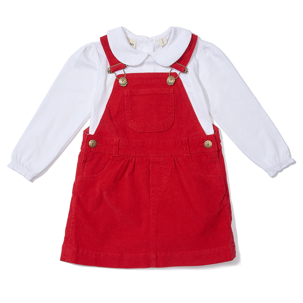 Dotty's Corduroy Dress - Red: Dotty Dungarees