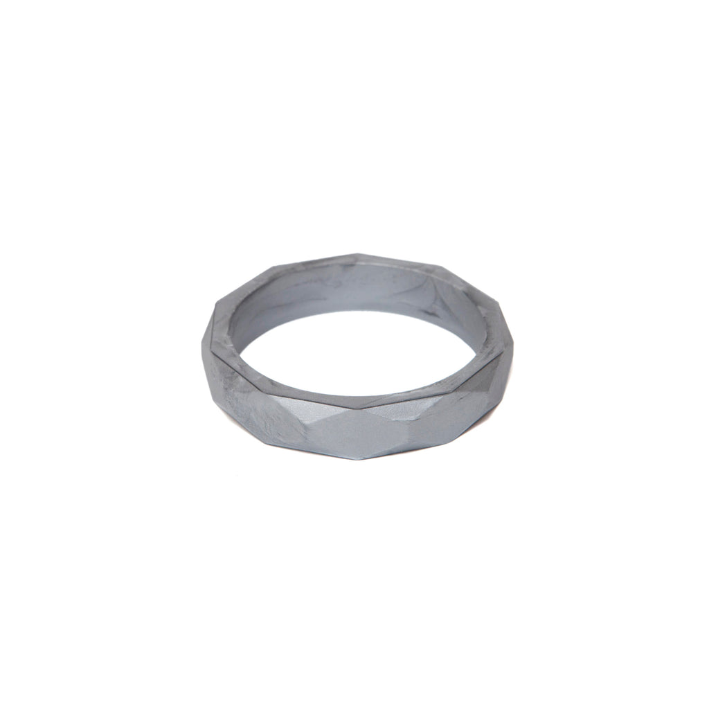 Lara & Ollie Pewter Teething Bangle - Just Add Milk