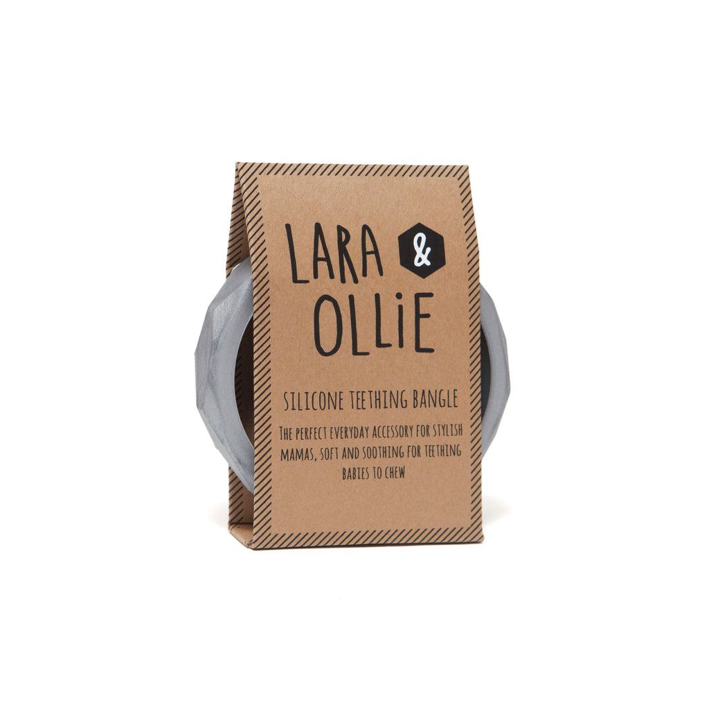 Lara & Ollie Pewter Teething Bangle