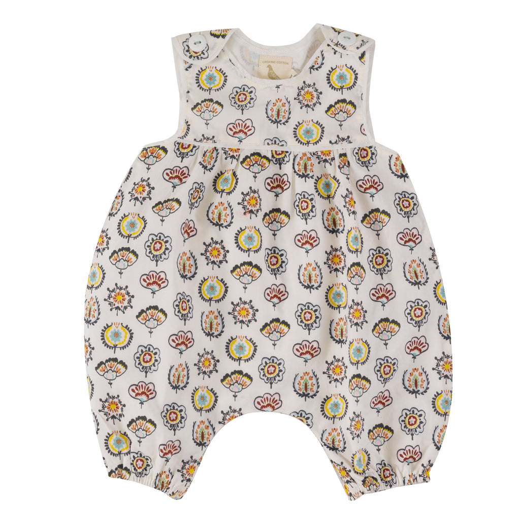 Baby Playsuit - Desert Flower | Pigeon Organics - Just Add Milk