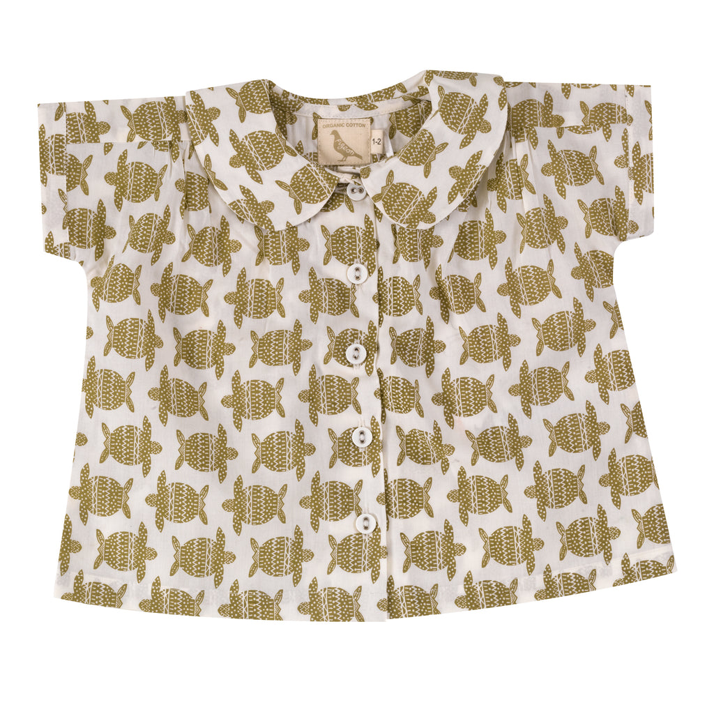 Peter Pan Collar Top - Turtle | Pigeon Organics - Just Add Milk