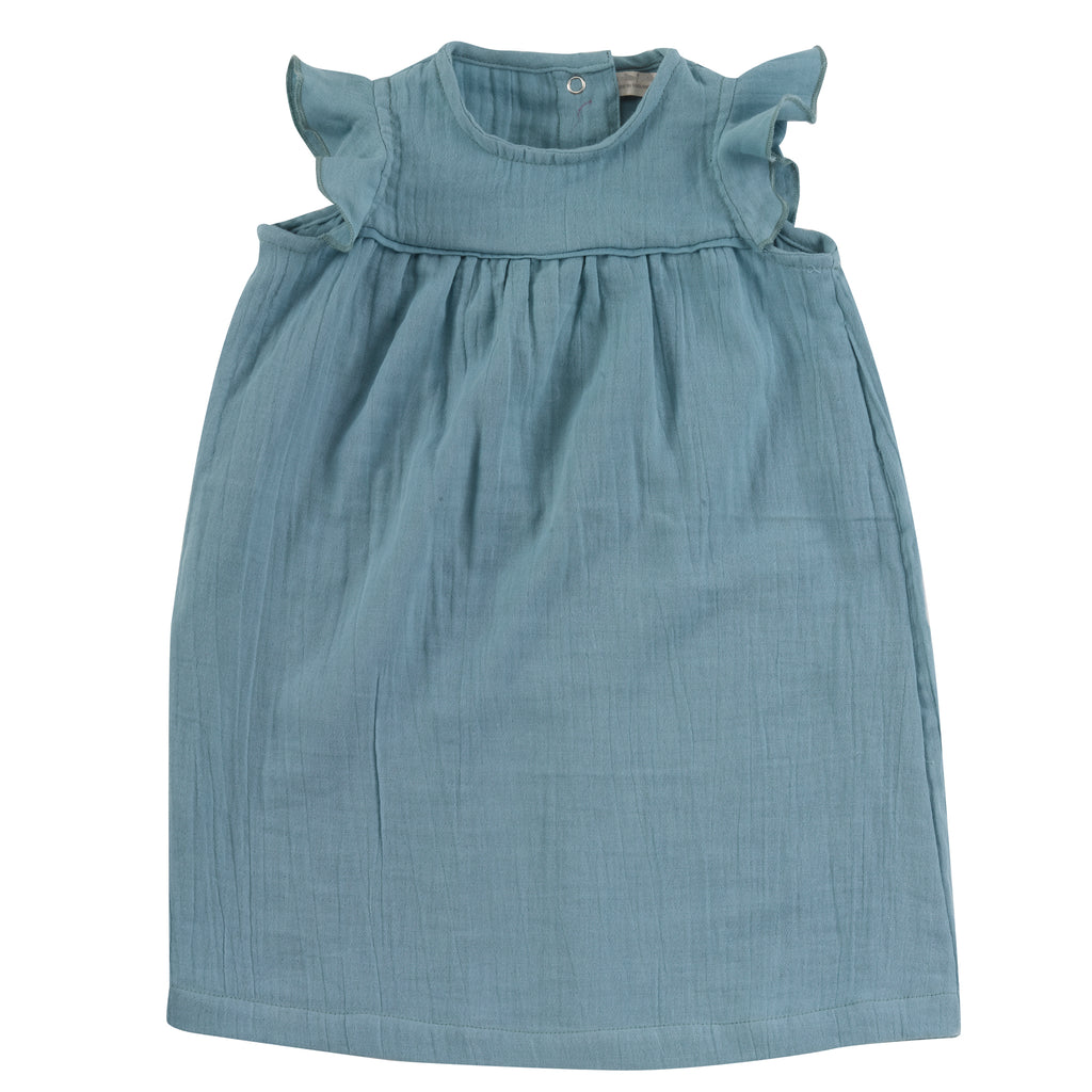 Turquoise Organic Muslin Shift Dress | Pigeon Organics - Just Add Milk