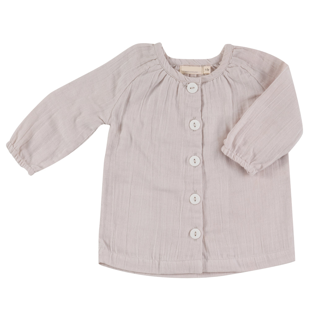 Muslin Tunic Top - Mist | Pigeon Organics - Just Add Milk