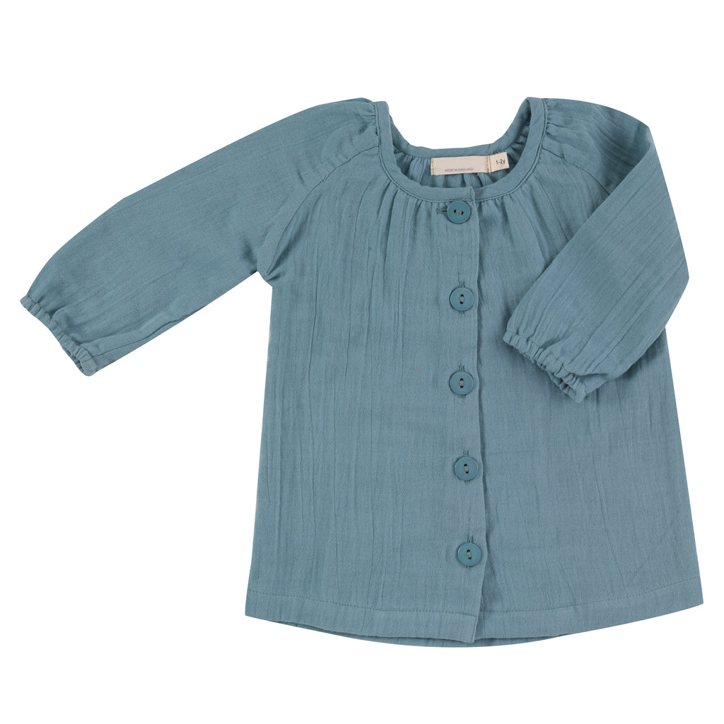 Muslin Tunic Top - Turquoise | Pigeon Organics - Just Add Milk