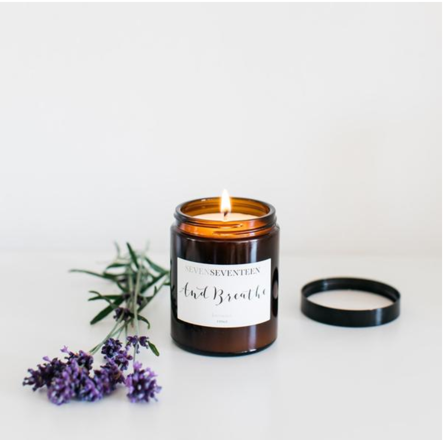 AND BREATH - Lavender Candle (180ml) | SevenSeventeen - Just Add Milk