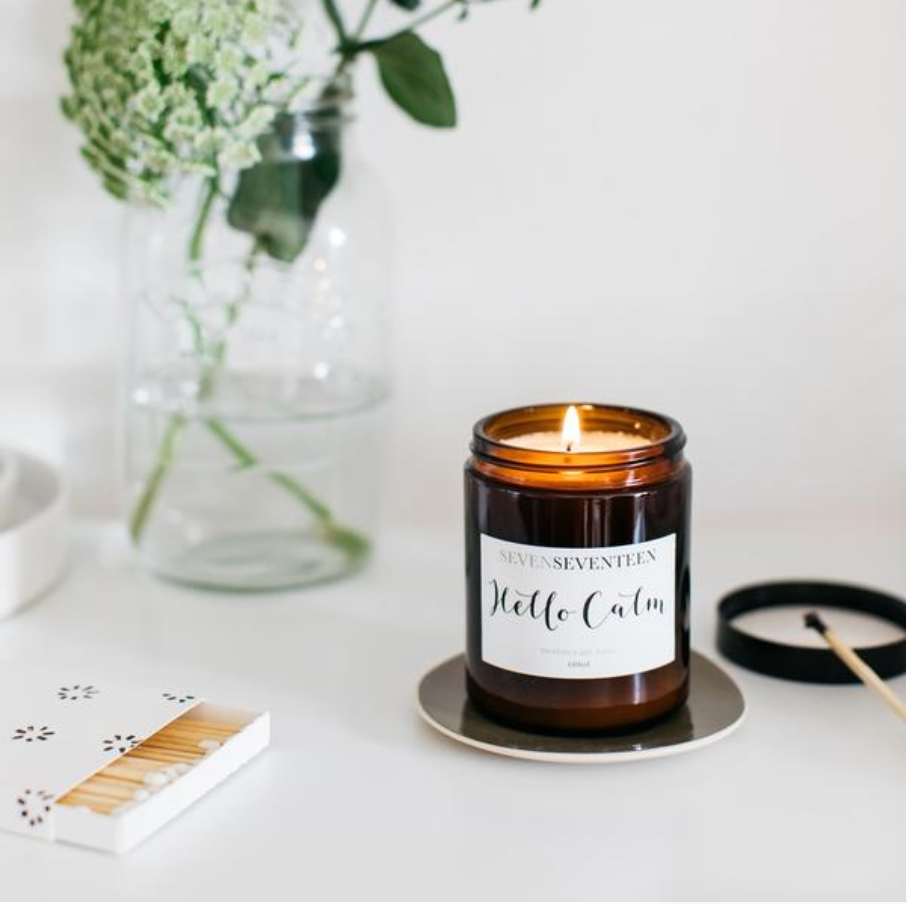 HELLO CALM -  Moroccan Rose Candle (180ml) | SevenSeventeen - Just Add Milk