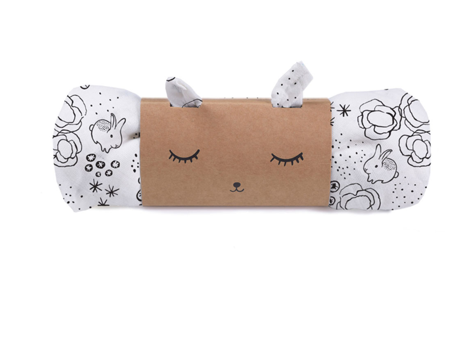 Bunny Organic Cotton Swaddle | Wee Gallery - Just Add Milk