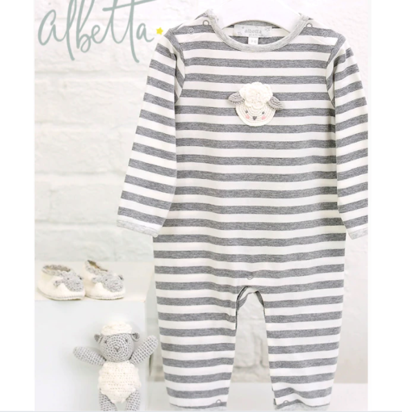 Little Lamb Crochet Babygrow | Albetta - Just Add Milk