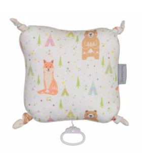 Fox & Bear, musical cushion ( ONE LEFT )