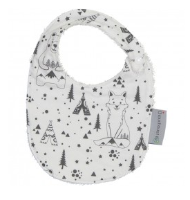 Bear and Fox Towelling Bib | Chouchouette - Just Add Milk