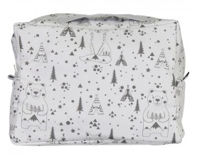 Fox and Bear Print Towelling Wash Bag | Chouchouette - Just Add Milk