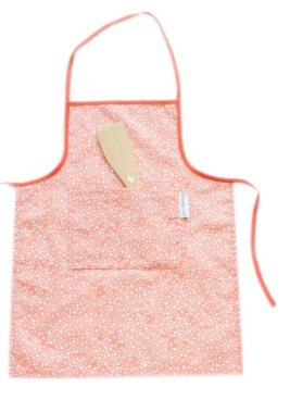 Childs Apron - Coral Twinkle Stars