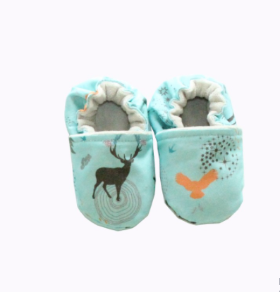 Enchanted Forest - Turquoise Baby Slippers