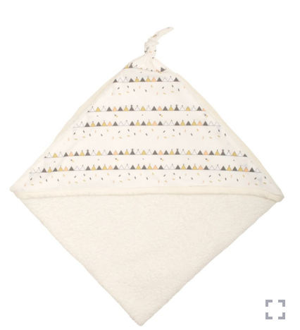 Hooded Baby Towel - Tipi | Chouchouette - Just Add Milk
