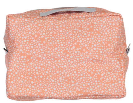 Constellations Towelling Wash Bag - Bright Coral ( ONE LEFT )