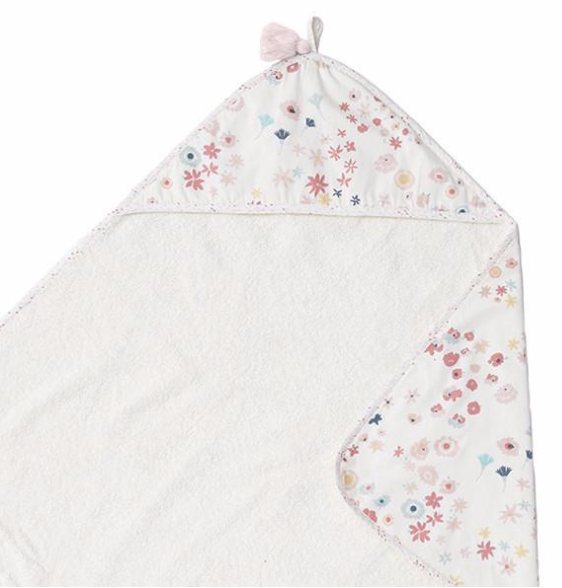 Meadow Print Hooded Towel | Pehr - Just Add Milk