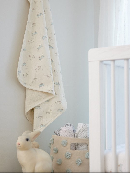 Tiny Bunny Hooded Towel | Pehr - Just Add Milk