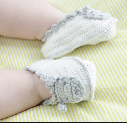 Crochet Samy Sheep Baby Booties | Albetta - Just Add Milk