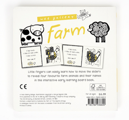 Farm- Slide & Play Book:  Wee Gallery
