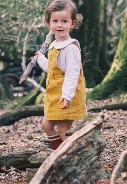 Corduroy Dress - Yellow | Dotty Dungarees - Just Add Milk