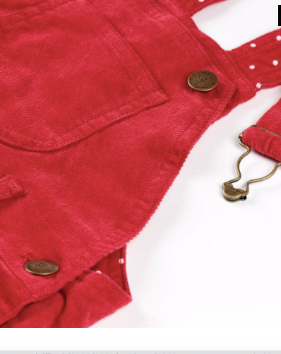 Corduroy Dress - Red | Dotty Dungarees - Just Add Milk