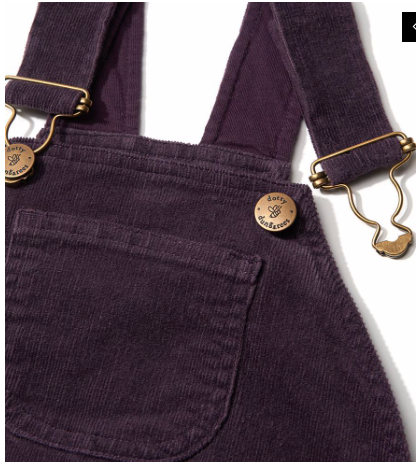 Dotty's Corduroy Dress - Plum | Dotty Dungarees - Just Add Milk