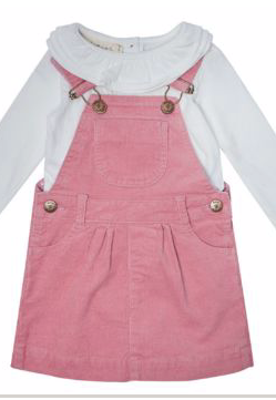 Corduroy Dress - Dusky Pink | Dotty Dungarees - Just Add Milk