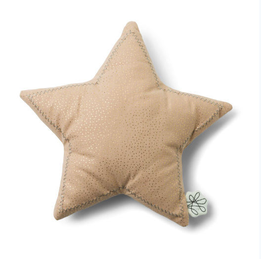 Soft Pink Gold Sparkle Star Cushion | Picca Loulou - Just Add Milk