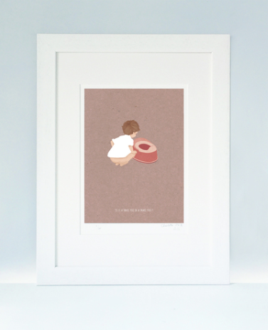 POTTY TRAINING - A4 Mounted Print by Little Lellow
