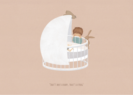 'THATS NOT A BABY' A4 Mounted Print by Little Lellow - Just Add Milk