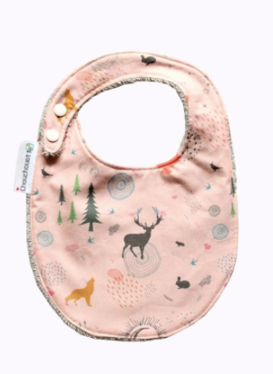 Pink Enchanted Forest Towelling Bib