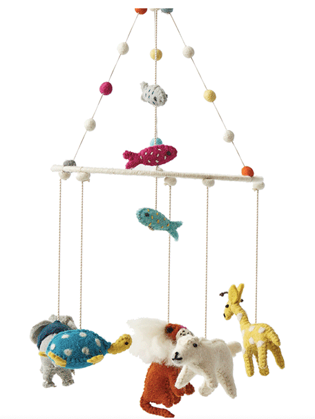 Noah's Ark Felt Mobile Petit Pehr - Just Add Milk