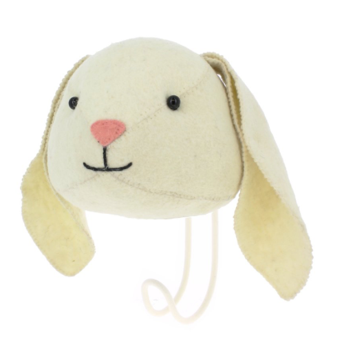 Floppy Ear Bunny Felt Clothes Hook | Fiona Walker England - Just Add Milk
