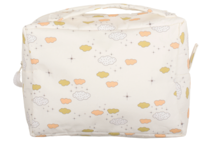 Towelling Wash Bag - Cloud Print ( ONE LEFT )