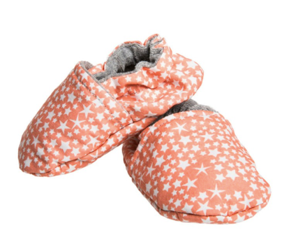 "Soft Baby Booties ""Coral Constellations"" - Just Add Milk"