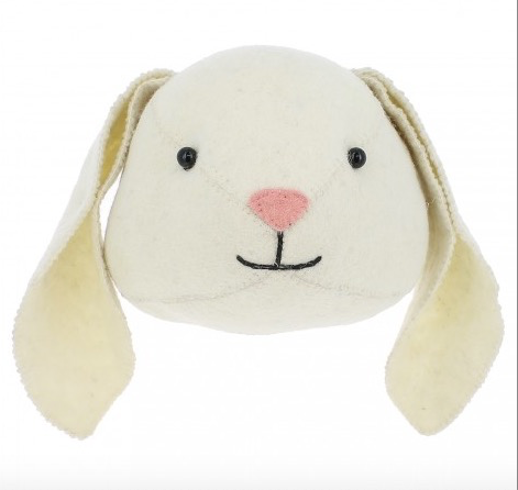 Floppy Ear Bunny Felt Animal Head - Semi Size: Fiona Walker England