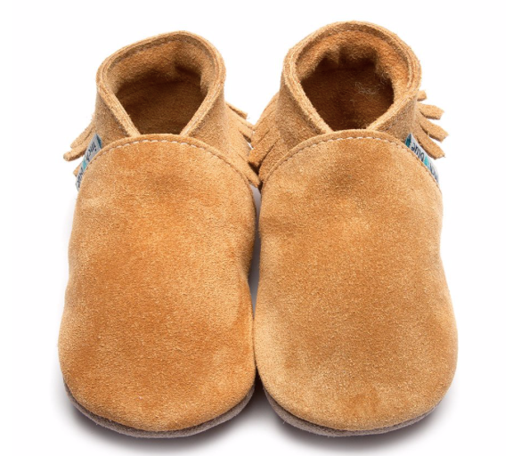 Moccasin Tan Suede Shoes - L, XL - Just Add Milk