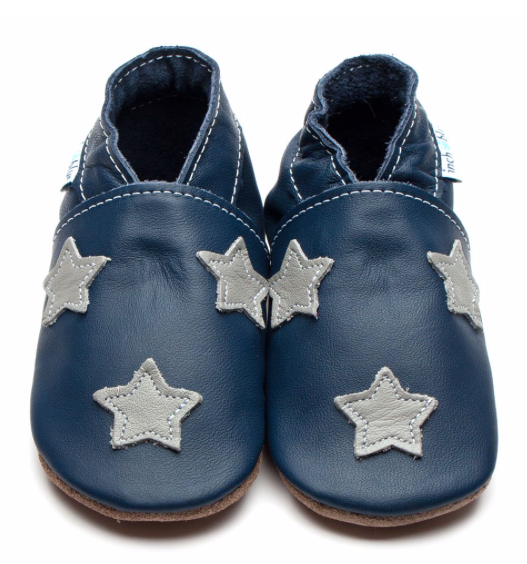 Stardom Navy/Grey Shoes - M, L, XL:  Inch Blue - Just Add Milk