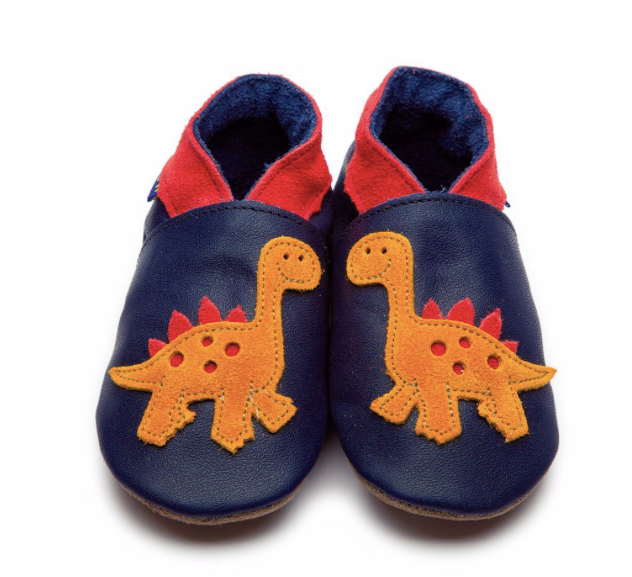 Dino Navy Shoes - M, L, XL | Inch Blue - Just Add Milk
