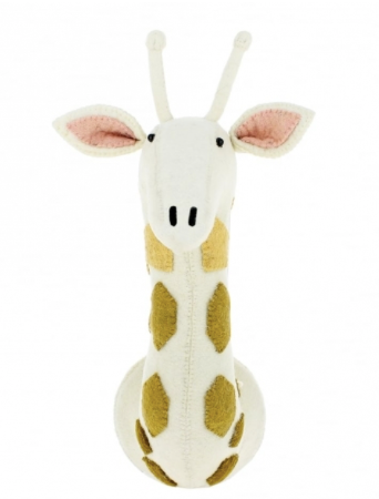 Tonal Giraffe Felted Animal Head: Fiona Walker England