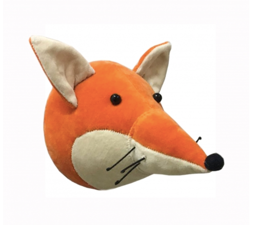 Mini Velvet Fox Head - Wall Mounted: Fiona Walker England
