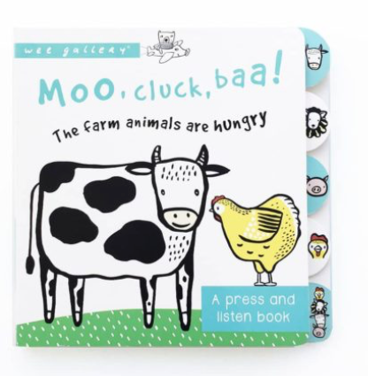 Moo, Cluck, Baa! - Sound Book  | Wee Gallery