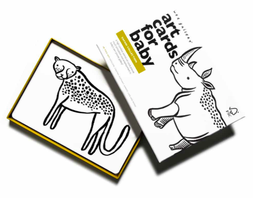 Art Cards for Baby - Safari |Wee Gallery - Just Add Milk