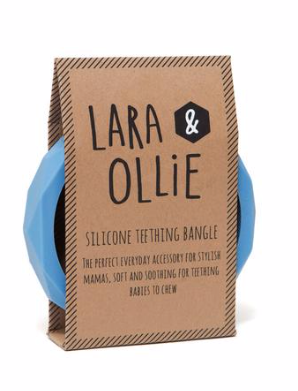 Lara & Ollie Teething Bangle - Cornflower Blue - Just Add Milk