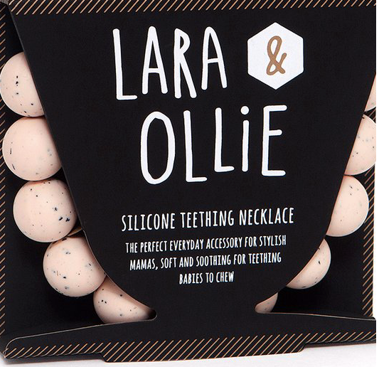 Lara & Ollie Round Teething Necklace - Granite Blush - Just Add Milk
