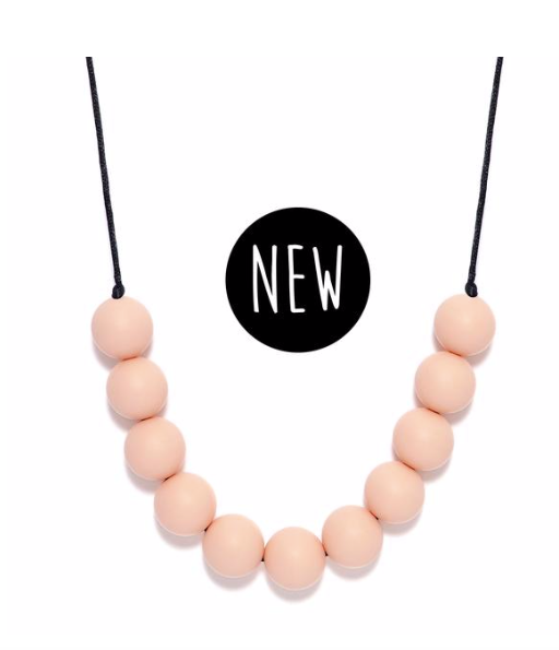 Lara & Ollie Round Teething Necklace - Blush - Just Add Milk