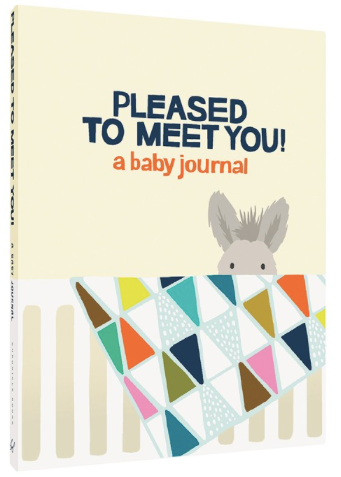 'Pleased to meet you' -  Baby Journal - Just Add Milk